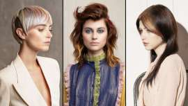 Alter Ego Italy e a sua equipa internacional com Leonardo Rizzo como líder, mostram uma a uma as propostas de uma coleção delicada ao mesmo tempo que as linhas, cores e geometrias fazem do cabelo selo de identidade própria