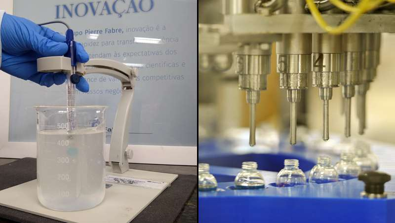 El laboratorio Pierre Fabre está produciendo geles hidroalcohólicos para dispensar en farmacias