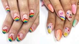 Ya sea una manicura con forma de arco iris, o con los colores de este fenómeno óptico de la naturaleza, o con los colores con los que queramos interpretar nuestro propio arco iris