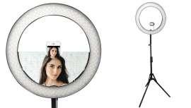 Anillo de luz con controles de temperatura de iluminación ajustables para hacer y mostrar las mejores imágenes y fotos tanto de tus trabajos como de ti mismo para selfies de primera