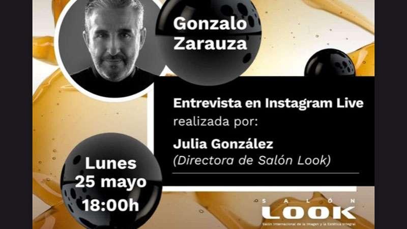 Julia González, directora de Salón Look, en directo con Gonzalo Zarauza, estrella de la peluquería