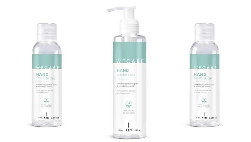 WeCare Hand Sanitizer, o novo gel hidralcoólico de Kin Cosmetics para que a tua cliente leve sempre consigo na mala ou para o escritório