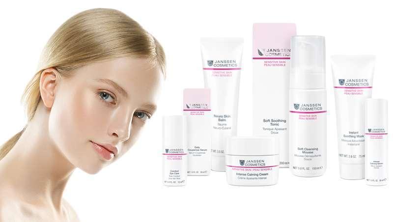 Sensitive Skin, linha Peles Sensíveis de Janssen Cosmetics