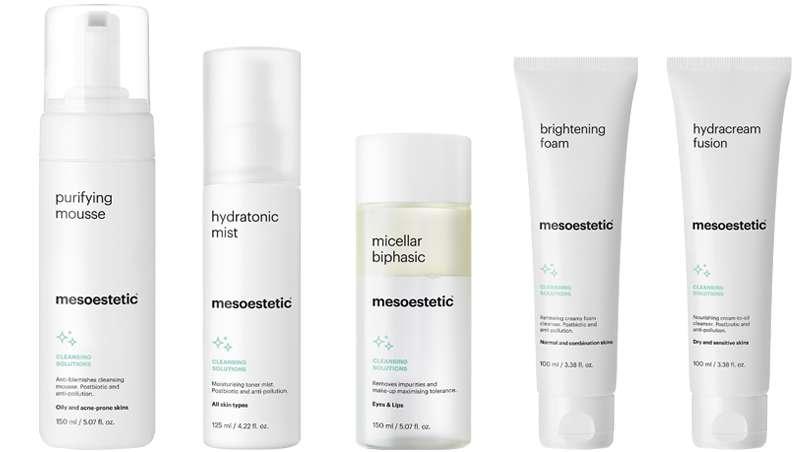 Más allá de la higiene facial, cleansing solutions de mesoestetic