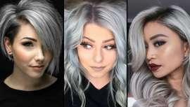 O cinzento e o branco são tendências atuais. Mas com matizes, cortes ad hoc e preferências de penteado que lançam a estes cabelos aos primeiros postos do estilo e que fizeram do prata, medalha de ouro nos cabeleireiros