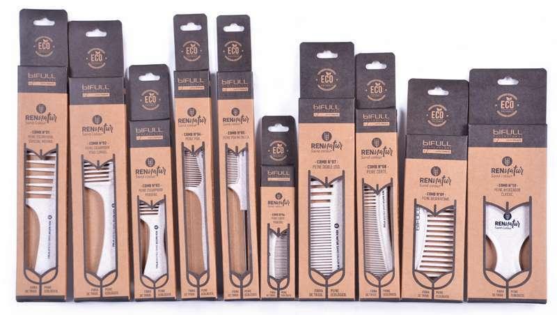 Ferramentas de penteado biodegradáveis para o salão de cabeleireiro