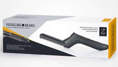 Novedad revolucionaria, la plancha con peine para barba y cabello