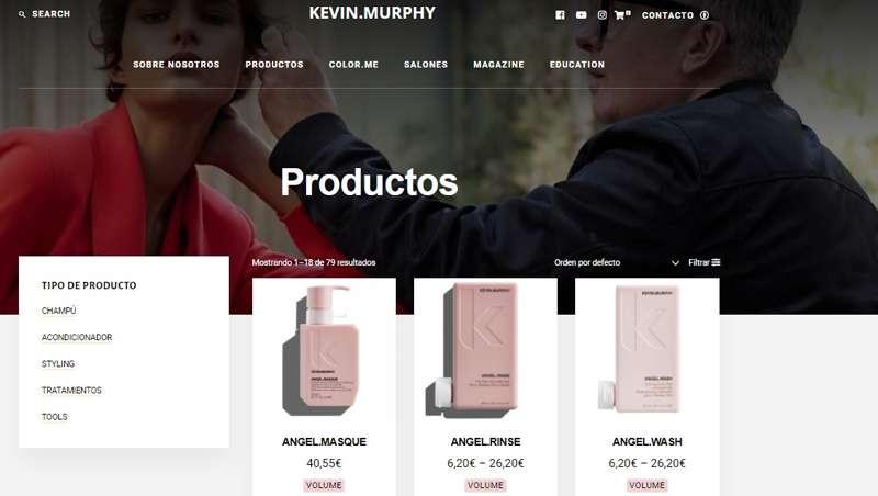 Kevin.Murphy lanza su nuevo e-commerce, para profesionales y clientes