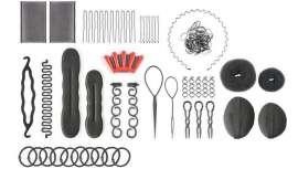 Um produto Perfect Beauty, com todas as ferramentas e acessórios necessários para realizar penteados de última com estilo e sem esforço