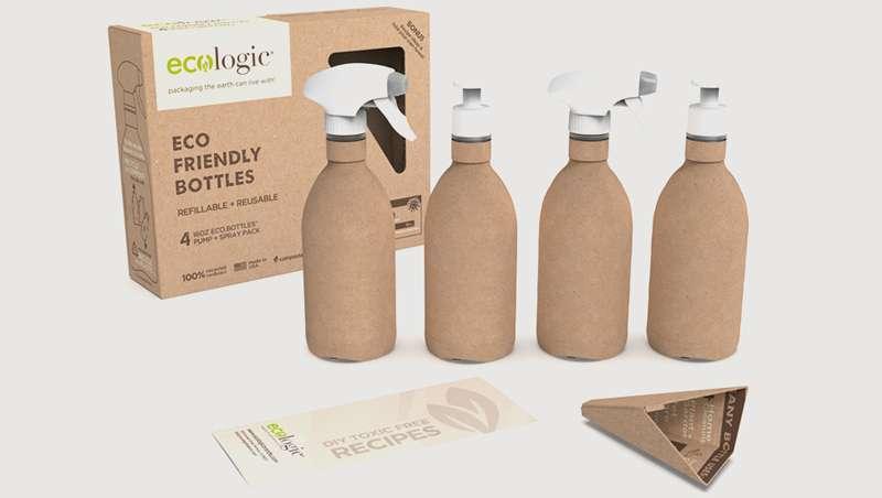 Cada vez mais garrafas de papel para as embalagens de cosmética capilar e de beleza