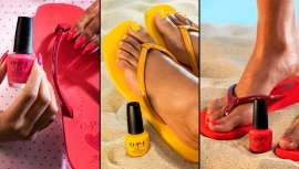 La marca de esmaltes #1 en salones y la marca deportiva se han inspirado en algunos de los tonos más icónicos de Opi para la elaboración de las sandalias más exclusivas, inspiradas en la firma profesional de lacas para las uñas