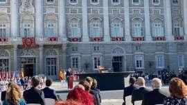 Val Díez, directora general de Stanpa, Asociación Nacional de Perfumería y Cosmética, asiste como invitada por la presidencia del Gobierno al Acto de homenaje a las víctimas del coronavirus