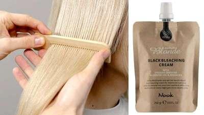 Black Bleaching Cream, ideal para aclarar rubios naturales y conseguir neutros y efectos fríos
