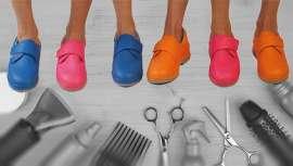Que nos duelen los pies de tanto al frente de peines y tijeras  no es ningún secreto. Aunque lo que sí es cierto es que quizá no dediquemos el tiempo adecuado a escoger nuestro zapato. El calzado de batalla que ponga ritmo a nuestros pasos