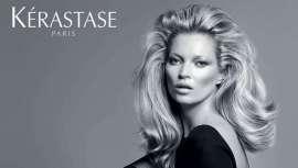 Kérastase se complace en anunciar que el ícono más prestigioso de la moda, Kate Moss, será la imagen de su primera gama de styling.