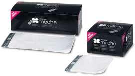 Se compone de dos capas de película de plástico con una cinta autoadhesiva superior. Está disponible en dos tamaños, corto y largo
