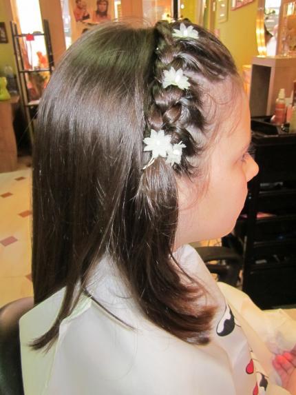 Peinados de comunion simples