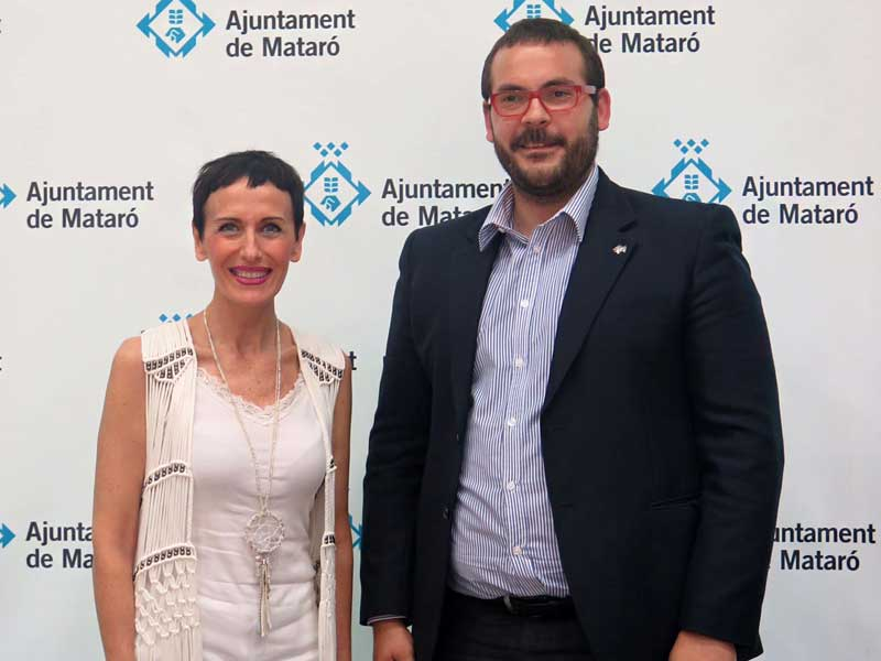 Felicitas Ordás con David Bote alcalde de Mataró