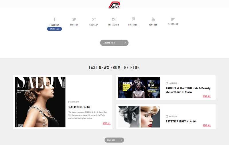 Parlux actualiza su web, volviéndola más navegable
