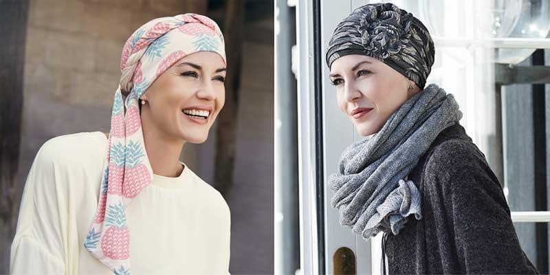 Pañuelos,gorros y turbantes de moda, de la mano de Christine Headwear