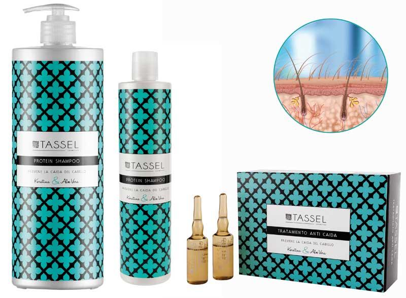 Champú y ampollitas Tassel Cosmetics: adiós a la caída del cabello en otoño