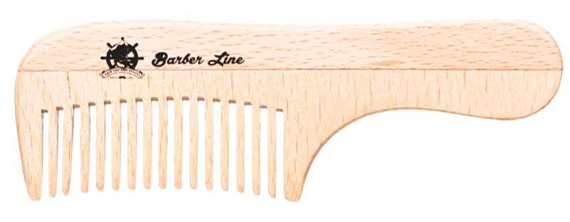 Peine de madera especial para peinar barba y bigote de Eurostil