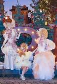 Luciana Sabariz peina a las reinas de la Navidad