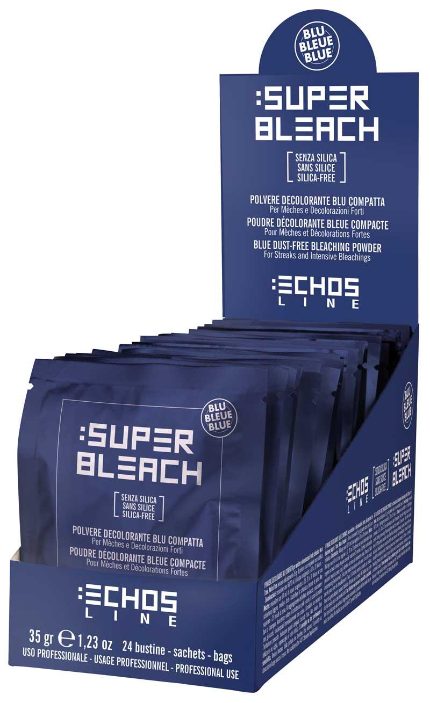 Polvo decolorante azul compacto de Echosline