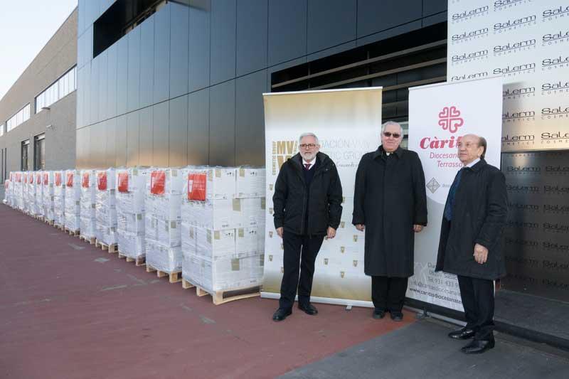 Acuerdo de colaboración de la Fundación VMV Cosmetic Group, con Cáritas Diocesana de Terrassa