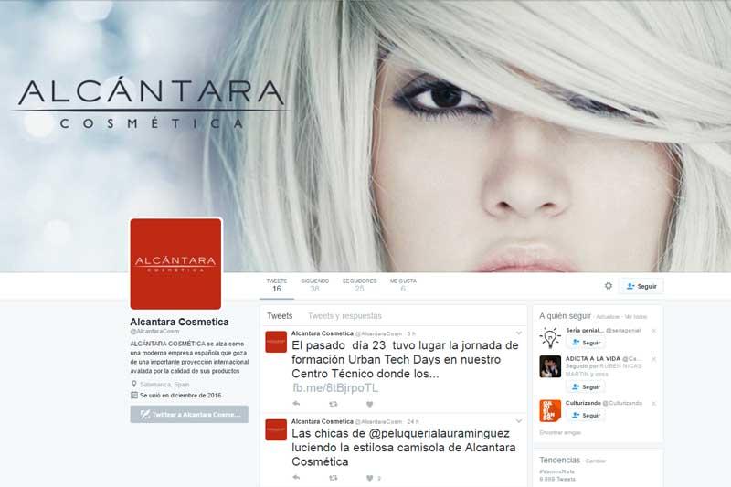 Alcántara Cosmética debuta en las redes sociales Facebook y Twitter