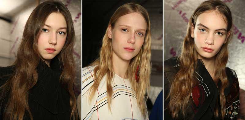 El look con ondas de ghd para Roksanda, durante la Semana de la Moda de Londres