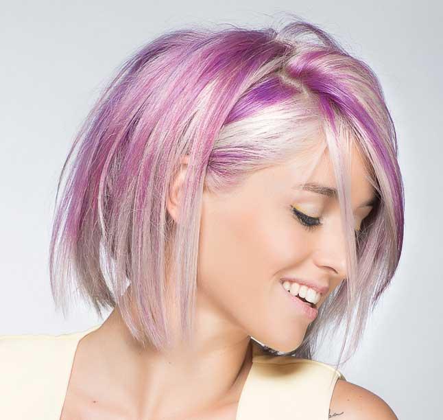 coloracion sobre un cabello tratado con enzimoplastia