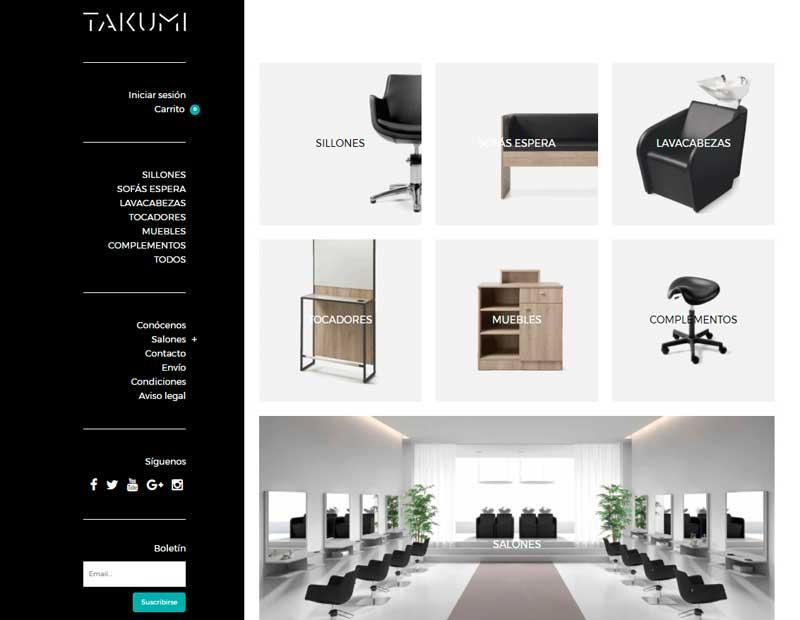 Takumi estreia catálogo e loja on-line
