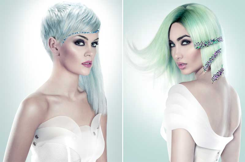 MoonLight Glitter Collection, el arte de maquillar el cabello por Gonzalo Zarauza