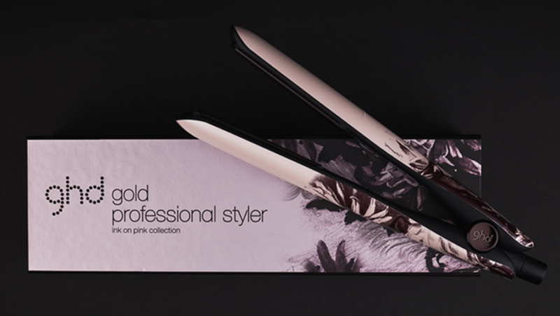Stylers ghd ink on pink