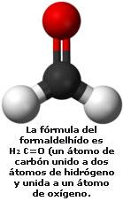 molécula de formol