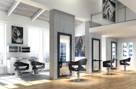Sal n completo urban la propuesta de federico mart nez for Salones de peluqueria decoracion fotos