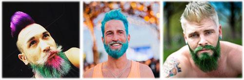 merman, el var�n que se ti�e cabello y barba con colores llamativos