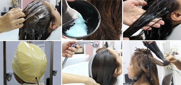 Tratamiento cabello peluqueria