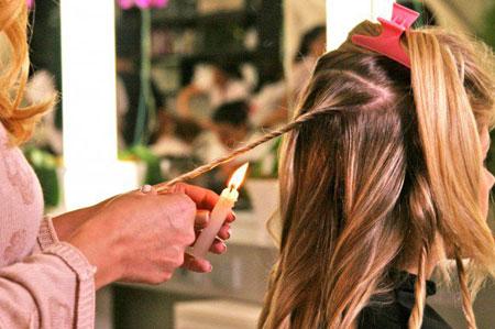 Velaterapia para sanear el pelo
