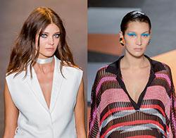Moroccanoil, responsable de la peluquería en el desfile de Costume National y de Missoni, en la Milan Fashion Week