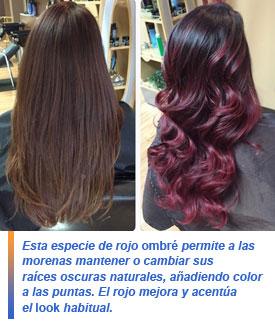 Cherry bombré hair