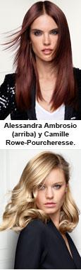 Alessandra Ambrosio y Camille Rowe-Pourcheresse, nuevas musas de L'Oréal Professionnel