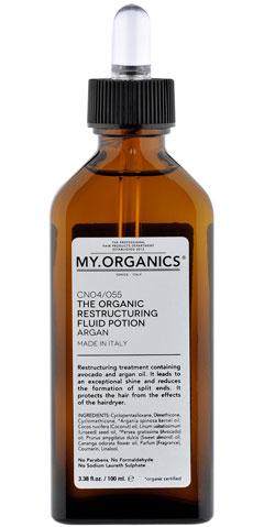 Cabello reparado con el aceite de argán y aguacate de My Organics