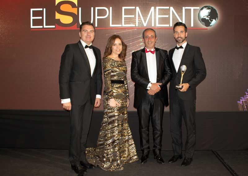 Rafa Méndez, director comercial; Paula Pereira responsable de comunicación; Antonio Queijeiro, director de los premios El Suplemento; e Isaac Rubín Rey, 'master coach'.
