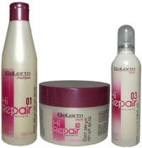 Hi,Repair de Salerm es un tratamiento rejuvenecedor para el cabello basado en la queratina pura. El resultado es un cabello sano, fuerte y con cuerpo.