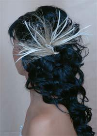 Adornos para el cabello con plumas